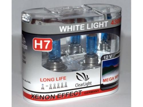 Лампа H7(Clearlight)12V-55W WhiteLight