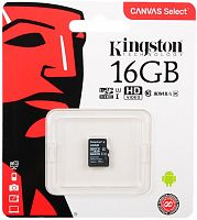 Карта памяти KingSton Canvas Select microSDHC Class 10 UHS-I U1 SDCS/16GBSP