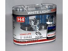 Лампа H4(Clearlight)12V-60/55W WhiteLight
